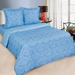 """Купить постельное белье поплин гладкокрашеный """"Византия голубая"""" в Дзержинске"""