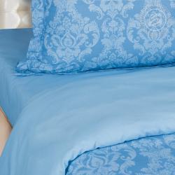 """Постельное белье поплин гладкокрашеный """"Византия голубая"""""""