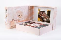 Постельное белье из сатина - премиум «Кашмир 3 фиолетовый» (в подарочной упаковке) | ТМ ТексДизайн