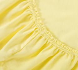 Купить желтую трикотажную простынь