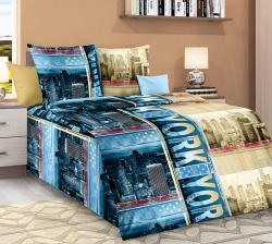 Купить постельное белье из бязи «Мегаполис вид 1» (1.5 спальное)