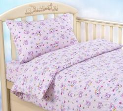 """Купить детское постельное белье из трикотажа """"Мой друг (розовый)"""""""